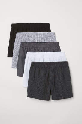 H&M 5-pack Woven Boxer Shorts - Black