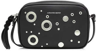 Alexander McQueen Small Embellished Leather Camera Bag