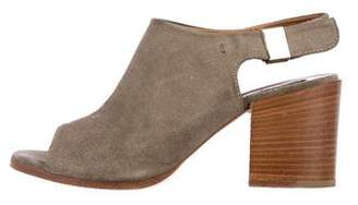 Alberto Fermani Suede Slingback Sandals