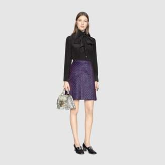 Gucci GG lurex pleated mini skirt