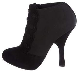 Dolce & Gabbana Suede Lace-Up Booties