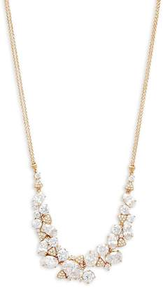 Adriana Orsini Women's Crystal Cluster Frontal Necklace