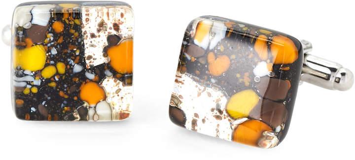 Duchamp Splatter Glass Cuff Links