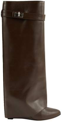 Givenchy Shark Brown Leather Boots