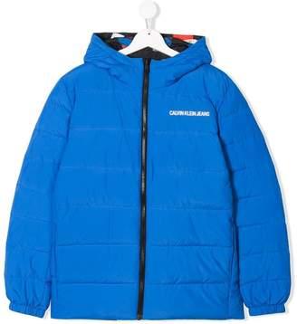 Calvin Klein Kids TEEN reversible padded jacket