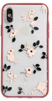 Kate Spade jeweled camellia iPhone X & Xs case