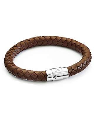 Fashion World Personalised Gents Leather Bracelet