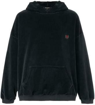 Yeezy crest velvet hoodie