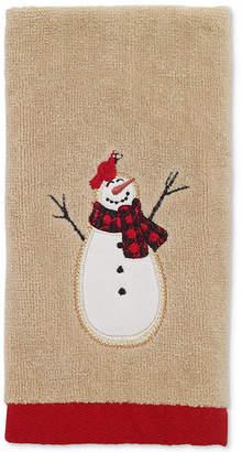 Avanti Snowman Gathering Fingertip Towel Bedding