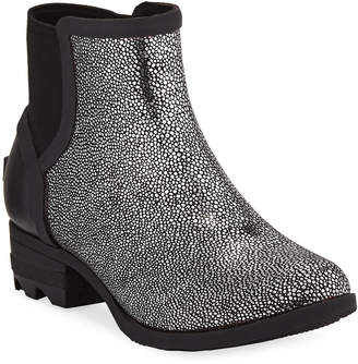 Sorel Janey Metallic Waterproof Rubber Chelsea Boots