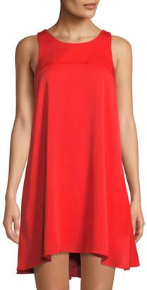 Milly Sleeveless Silk Trapeze Dress