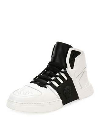 Versace Men's Fashion Show Medusa-Embossed High-Top Sneakers