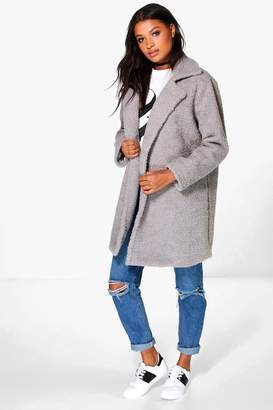 boohoo Boutique Louisa Teddy Faux Fur Chuck On Coat