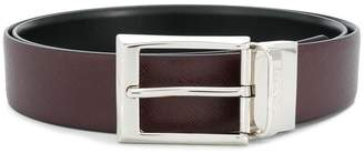 Canali grained leather belt