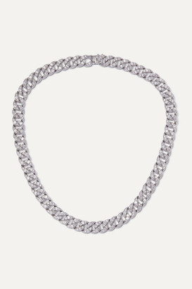 Kenneth Jay Lane Silver-tone Crystal Necklace