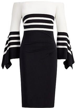 Ralph Lauren Striped Off-the-Shoulder Dress $155 thestylecure.com