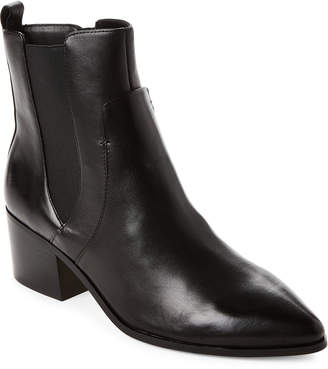 Tahari Black Resist Leather Boots