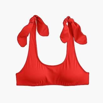 J.Crew Playa Nantucket tie-shoulder bikini top