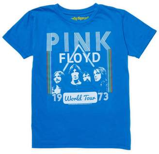 Rowdy Sprout Pink Floyd 1973 World Tour Cotton Tee - Blue, Size 6-12 month