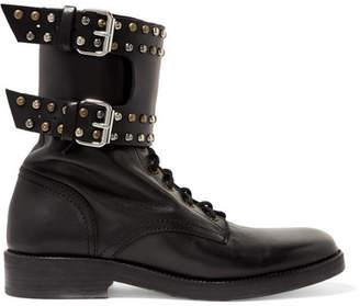 Isabel Marant - Teylon Studded Leather Ankle Boots - Black $780 thestylecure.com