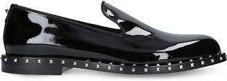 Valentino Rockstud patent-leather slippers