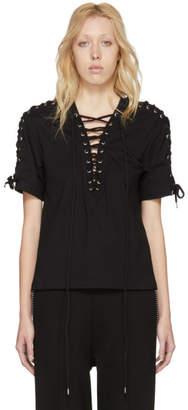 McQ Black Laced T-Shirt