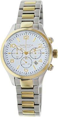 Nautica (ノーティカ) - ノーティカWomen 's BFD 101 N20060g Two - Toneステンレススチールクォーツウォッチホワイトダイヤル