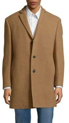 Calvin Klein Wool-Blend Button-Front Coat