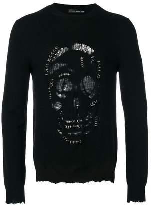 Alexander McQueen skull print top