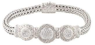 John Hardy Diamond Trio Station Bracelet