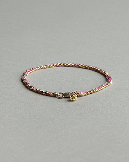 Alyssa Norton Silk & Gold Bracelet