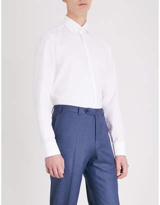 BOSS Regular-fit cotton-piqué shirt