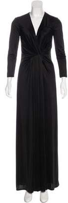L'Agence Long Sleeve Maxi Dress