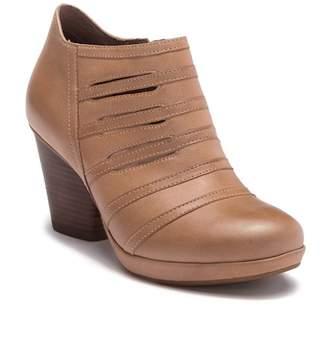 Dansko Meadow Leather Stacked Heel Bootie