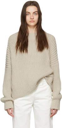 LAUREN MANOOGIAN Beige Boucle Pullover Sweater