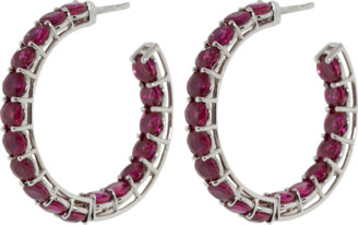 BAYCO Small Ruby Hoop Earrings