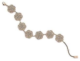 Swarovski Ye Mingzi Stainless Steel Pave Crystal Flower Bracelet