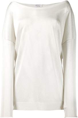 Brunello Cucinelli off shoulder knit top
