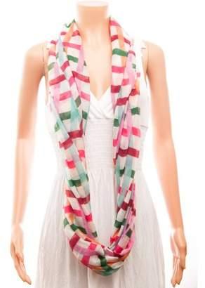 Celik Women's Infiniti Scarves Bright Colorful Plaid Pattern