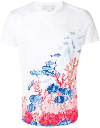 Orlebar Brown x Good Wives and Warriors fish printed T-shirt