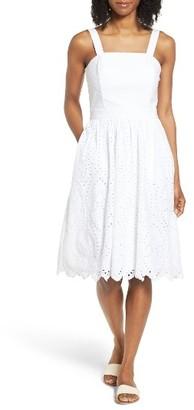 Women's Vineyard Vines Convertible Eyelet Cotton Sundress $228 thestylecure.com