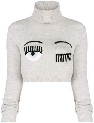 Chiara Ferragni Eye logo cropped jumper