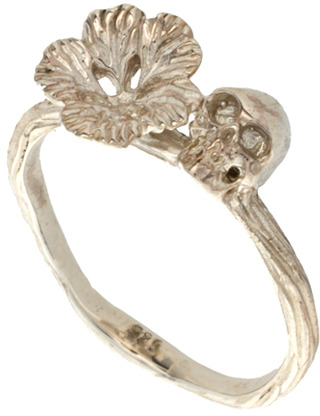 Zoe & Morgan Flower And Skull Ring