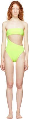 Stella McCartney Yellow 90s Strapless Swimsuit