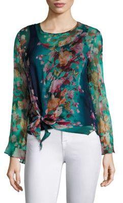 Fuzzi Farfalla Tie Silk Blouse $475 thestylecure.com