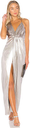 Halston Halter Neck Asymmetrical Dress