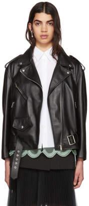 Prada Black Leather Biker Jacket