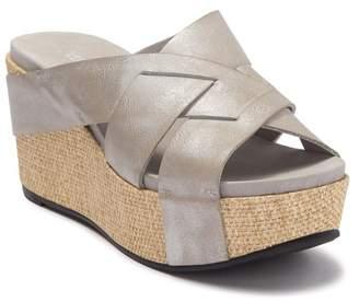 Antelope Crisscross Leather Wedge Sandal