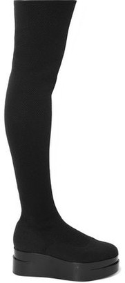 Clergerie Laurian Stretch-knit Platform Over-the-knee Boots