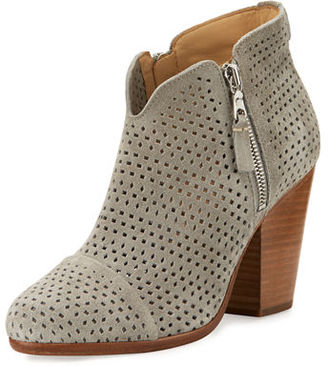 Rag & Bone Margot Perforated Suede Ankle Boot $495 thestylecure.com